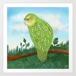 The Kakapo (Owl Parrot of New Zealand) Art Print