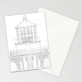 Vintage Bodie Island Lighthouse Blueprint Stationery Cards