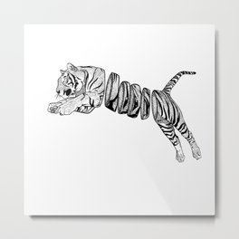 Sliced Tigger Metal Print