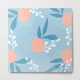 Abstract peachy apricots Metal Print