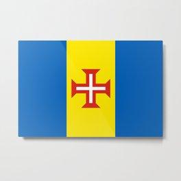 Madeira Flag Metal Print