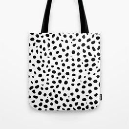 Black And White Cheetah Print Tote Bag