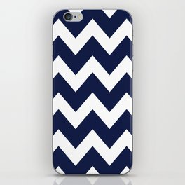 Navy Blue Chevron Minimal iPhone Skin