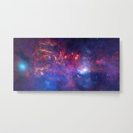 1865. NASA's Great Observatories Examine the Galactic Center Region - The core of the Milky Way at a distance of some 26,000 light years from Earth. Metal Print