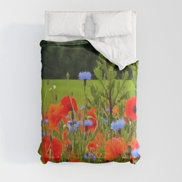 Poppies And Cornflowers Comforters