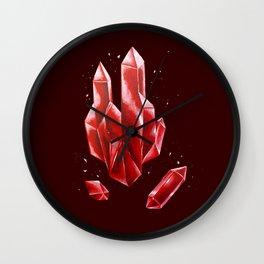 Crystal Red Wall Clock