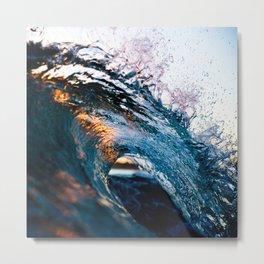 macro wave Metal Print