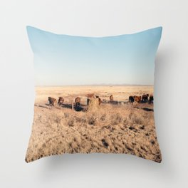 West Texas Stampede Throw Pillow