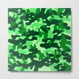 Camouflage (Green) Metal Print