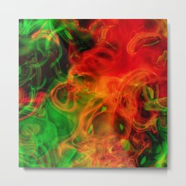 Green and Fire Metal Print