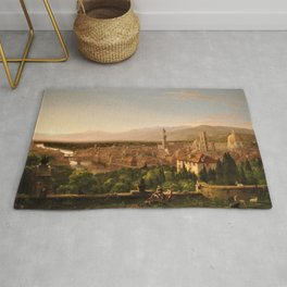 View of the Duomo and Florence, Italy by Thomas Cole Rug