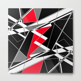 Abstract Geometric 6 Metal Print