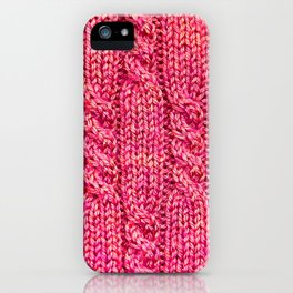 Knitting_015_by_JAMFoto iPhone Case