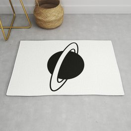 Saturn Planet Ring Icon Rug
