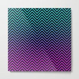 Rainbow Zigzag Metal Print