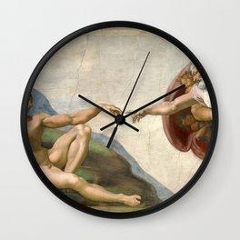 Michelangelo, The Creation of Adam, 1510 Wall Clock