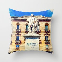 Trapani art 17 Sicily Throw Pillow