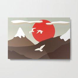 Swan Migration Metal Print