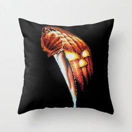 Halloween Pumpkin Stained Glass Throw Pillow