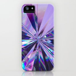 Brilliant Purple Crystal  iPhone Case