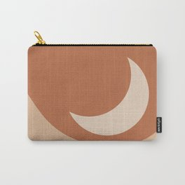 Moonrise Minimalism - Orange Carry-All Pouch