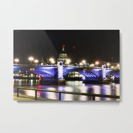 St pauls at night. Metal Print