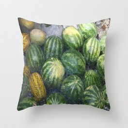 Cool Watermelon Throw Pillow