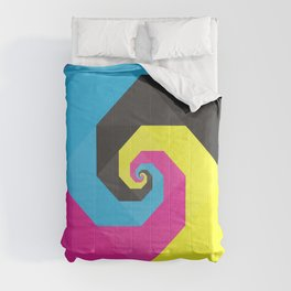 CMYK triangle spiral Comforters