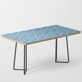 Greek Key - Turquoise Coffee Table