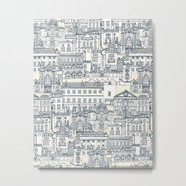 Bath toile indigo pearl Metal Print