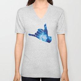 Baesic Shaka Blue Tye Dye Unisex V-Neck