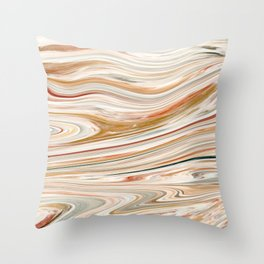 Brown and Yellow Acrylic Painting Throw Pillow