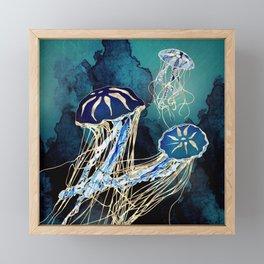 Metallic Jellyfish III Framed Mini Art Print