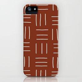 Rust Mudcloth iPhone Case