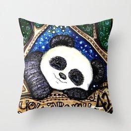 My Sleepy Panda 42 Throw Pillow