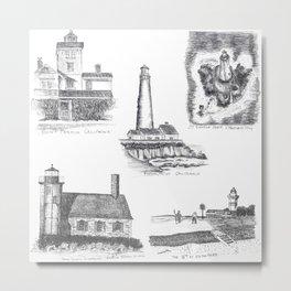 Little Lighthouses Metal Print
