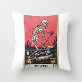 Death Tarot Throw Pillow