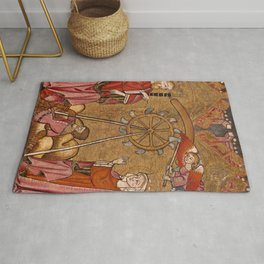 saint catherine delivered from the wh.eye.l Rug