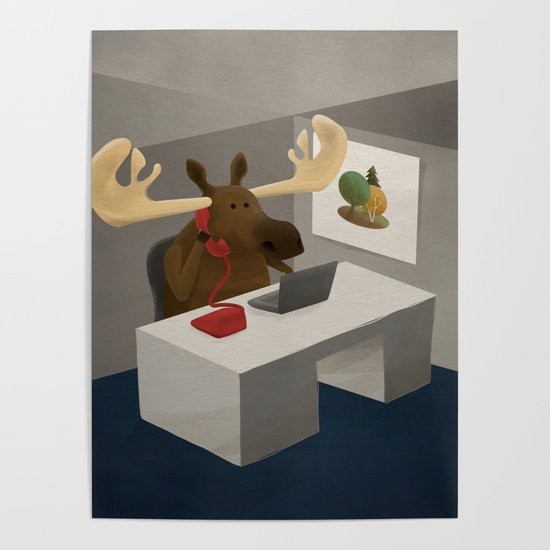 Maurice, the moose who wanted to work in an office by jonathankemp