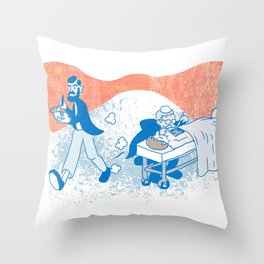 Freud and Halsted Throw Pillow