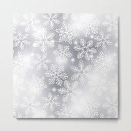 Snowflakes and lights  Metal Print
