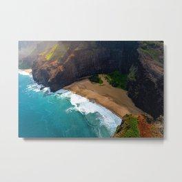 Tropical Kauai Hawaiian Island Sea Coast Metal Print