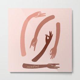 Mudras - Pink Metal Print