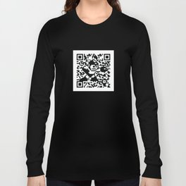 Mega Man QR Code 8-Bit Art Long Sleeve T-shirt