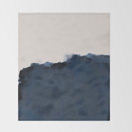 Abstract, blue, beige, indigo Throw Blanket