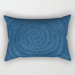 Circular Plant in Teal Rectangular Pillow