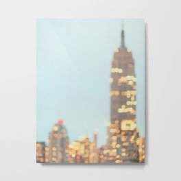 Abstract City - New York Photography Metal Print