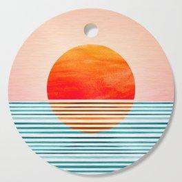 Minimalist Sunset III / Abstract Landscape Cutting Board