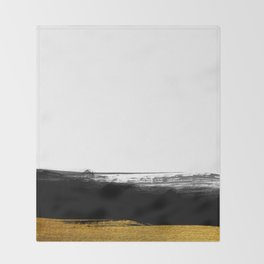 Black and Gold grunge stripes on clear white background - Stripe - Striped Throw Blanket
