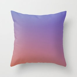OXIDISED METAL - Minimal Plain Soft Mood Color Blend Prints Throw Pillow